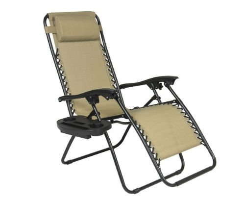 The Best Product Tan Zero Gravity Chair front one-w500-h500