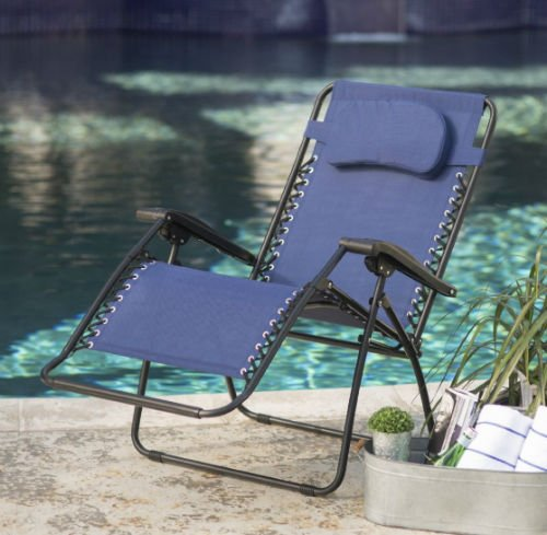 The Caravan Sports Infinity oversized Zero Gravity Chair by the pool-w500-h500