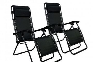 The Zero Gravity Black Lounge Patio Chairs side 2-w500-h500